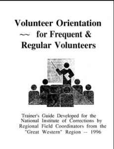 Volunteer Orientation for Frequent and Regular Volunteers: Trainer's Guide Cover