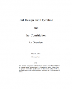 Jail Design and Operation and the Constitution: An Overview cover