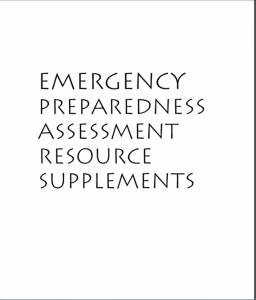 Emergency Preparedness Assessment Resource Supplements cover