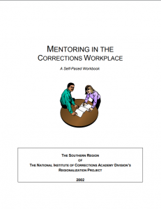 Mentoring in the Corrections Workplace:  A Self-Paced Workbook Cover