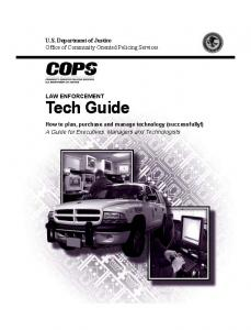 Law Enforcement Tech Guide: How to Plan, Purchase and Manage Technology (Successfully!) Cover