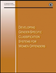 Developing Gender-Specific Classification Systems for Women Offenders Cover