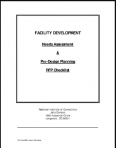 Facility Development: Needs Assessment & Pre-Design Planning RFP Checklist Cover