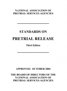 Standards on Pretrial Release Cover