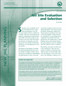Jail Site Evaluation and Selection cover