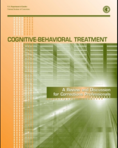 Cognitive-Behavioral Treatment: A Review and Discussion for Corrections Professionals Cover