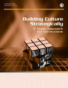 Building Culture Strategically:  A Team Approach for Corrections Cover