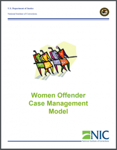 Women Offender Case Management Model Cover
