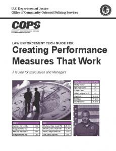 Law Enforcement Tech Guide for Creating Performance Measures That Work:  A Guide for Executives and Managers Cover