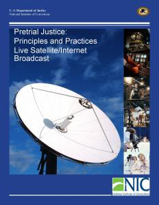 Pretrial Justice:  Principles and Practices Cover