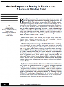Gender Responsive Reentry Cover