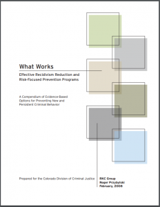 What Works: Effective Recidivism Reduction and Risk-Focused Prevention Programs: A Compendium of Evidence-Based Options for Preventing New and Persistent Criminal Behavior Cover