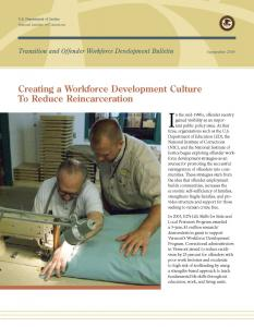 Creating a Workforce Development Culture to Reduce Reincarceration Cover