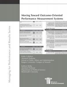 Moving Toward Outcome-Oriented Performance Measurement Systems Cover