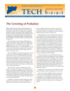 The Greening of Probation Cover