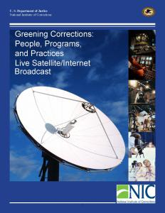 Greening Corrections: People, Programs, and Practices [Satellite/Internet Broadcast held July 14, 2010] Cover