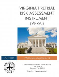 Virginia Pretrial Risk Assessment Instrument Cover