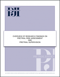Overview of Research Findings on Pretrial Risk Assessment and Pretrial Supervision Cover