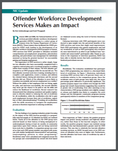 Offender Workforce Development Services Makes an Impact Cover
