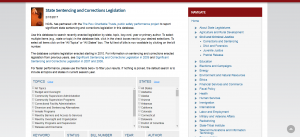 State Sentencing and Corrections Legislation Cover