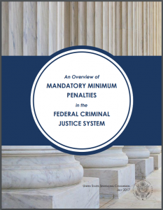2017 Overview of Mandatory Minimum Penalties in the Federal Criminal Justice System Cover