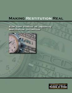 Making Restitution Real: Five Case Studies on Improving Restitution Collection Cover
