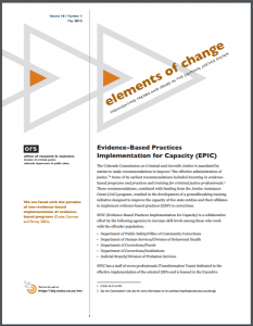 Evidence-Based Practices Implementation for Capacity (EPIC) Cover