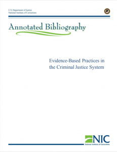 Evidence-Based Practices in the Criminal Justice System: An Annotated Bibliography cover