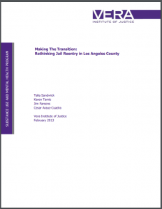 Making the Transition: Rethinking Jail Reentry in Los Angeles County Cover