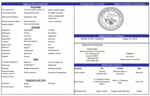 Competency Profile Cover