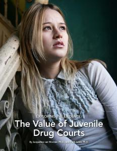 › Exploring the Evidence: The Value of Juvenile Drug Courts Cover