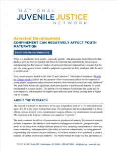 Arrested Development: Confinement Can Negatively Affect Youth Maturation Cover
