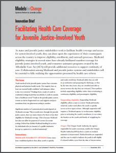 Facilitating Health Care Coverage for Juvenile Justice-Involved Youth Cover