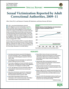 Sexual Victimization Reported By Adult Correctional Authorities, 2009–11 Cover