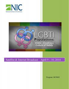 LGBTI Populations: Intake – Creating a Culture of Safety [Internet Broadcast] Cover