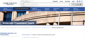 York County Adult Probation Veterans Treatment Court Cover