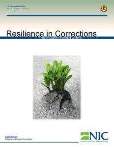 Resilience in Corrections: A Proactive Approach to Changing Conditions Cover
