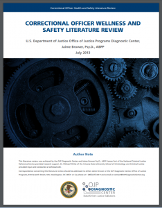Correctional Officer Wellness and Safety Literature Review Cover