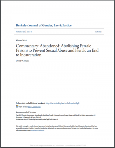 Commentary: Abandoned: Abolishing Female Prisons to Prevent Sexual Abuse and Herald an End to Incarceration Cover