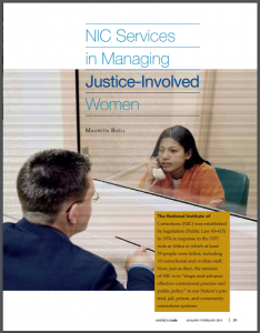 NIC Services in Managing Justice-Involved Women Cover