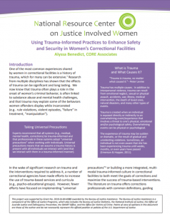 Using Trauma-Informed Practices to Enhance Safety and Security in Women's Correctional Facilities cover