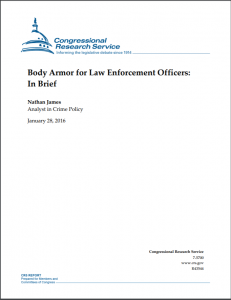 Body Armor for Law Enforcement Officers: In Brief Cover