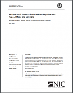 Occupational Stressors in Corrections Organizations: Types, Effects and Solutions Cover