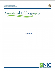 Trauma Annotated Bibliography Cover