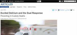 Excited Delirium and the Dual Response: Preventing In-Custody Deaths Cover