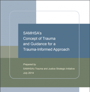 SAMHSA's Concept of Trauma and Guidance for a Trauma-Informed Approach Cover