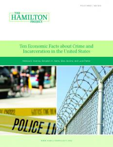 Ten Economic Facts about Crime and Incarceration in the United States Cover