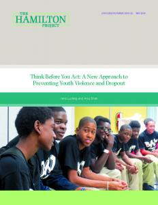 › Think Before You Act: A New Approach to Preventing Youth Violence and Dropout Cover