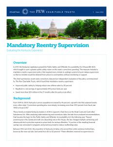 Mandatory Reentry Supervision: Evaluating the Kentucky Experience Cover