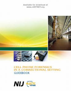 Cell Phone Forensics in a Correctional Setting: Guidebook Cover